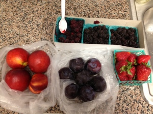 Our spoils from the farmers' market