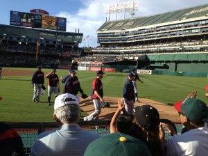 We were right behind the Indians' bullpen.