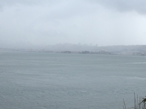 Not that you can really see, but that is San Francisco