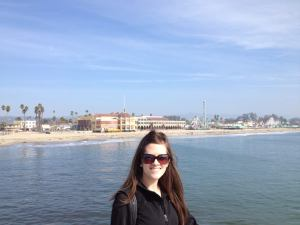Standing on the wharf with the Boardwalk in the background