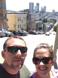 San Fran selfie up near Coit Tower