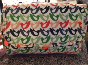 It's a travel bag for toiletries but I just had to have the bright colored birds