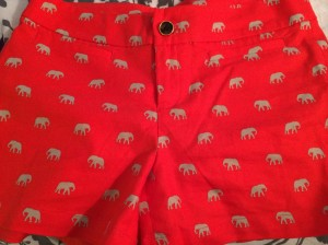 Those awesome shorts I mentioned earlier...because who doesn't need Clemson orange shorts with elephants?