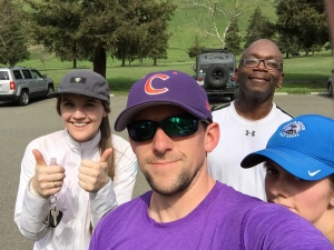 Some of us were not feeling so enthusiastic in this post-hike selfie...